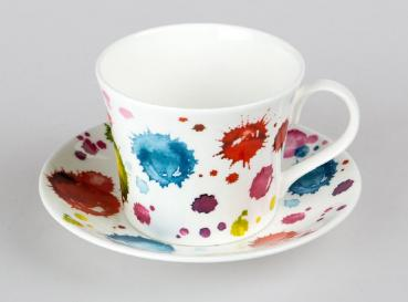 Jumbotasse Lucy Splash Bone China