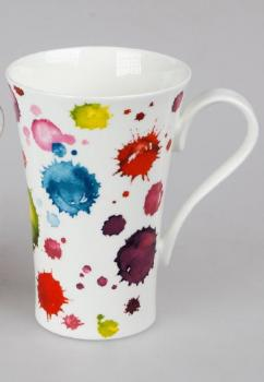 Becher Latte Splash Bone China