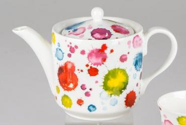 Teekanne Alice Splash Bone China